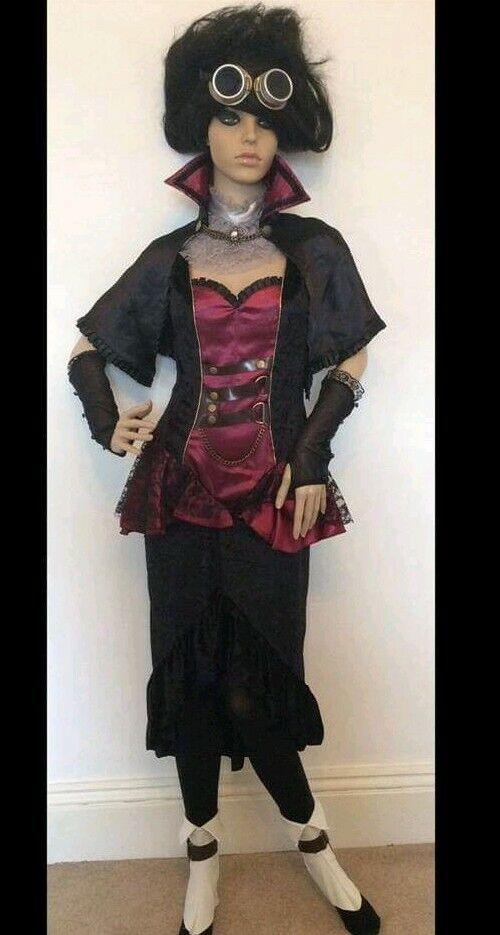 Halloween NEW Women's Steampunk Complete Fancy Dress Costume Size XS. Halloween