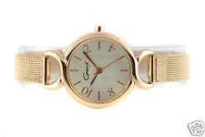 Steel Mesh Gold Color Woman's Watch - Elegant Fashion Design Ladies Watches