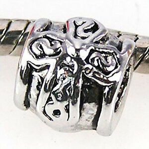 5pcs-Celtic-Knot-Cross-Silver-European-Spacers-Charms-Beads-For-Bracelet-LEB412