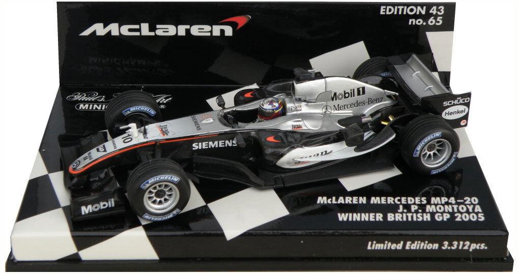 Minichamps mclaren MP4-20 winner british gp 2005-juan pablo montoya montoya montoya échelle 1 43 cc8d30