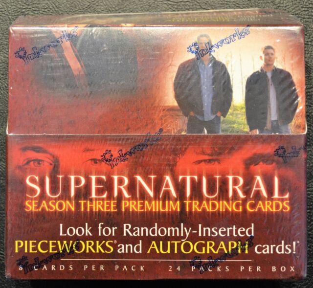 Supernatural Season 3 Sealed Box Pieceworks inkworks Autograph Auto Trading Card