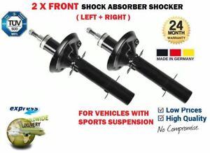 FOR VW BORA + 2.3 V5 2.8 V6 1999-2005 SPORT SUSPENSION 2X FRONT SHOCK ABSORBERS