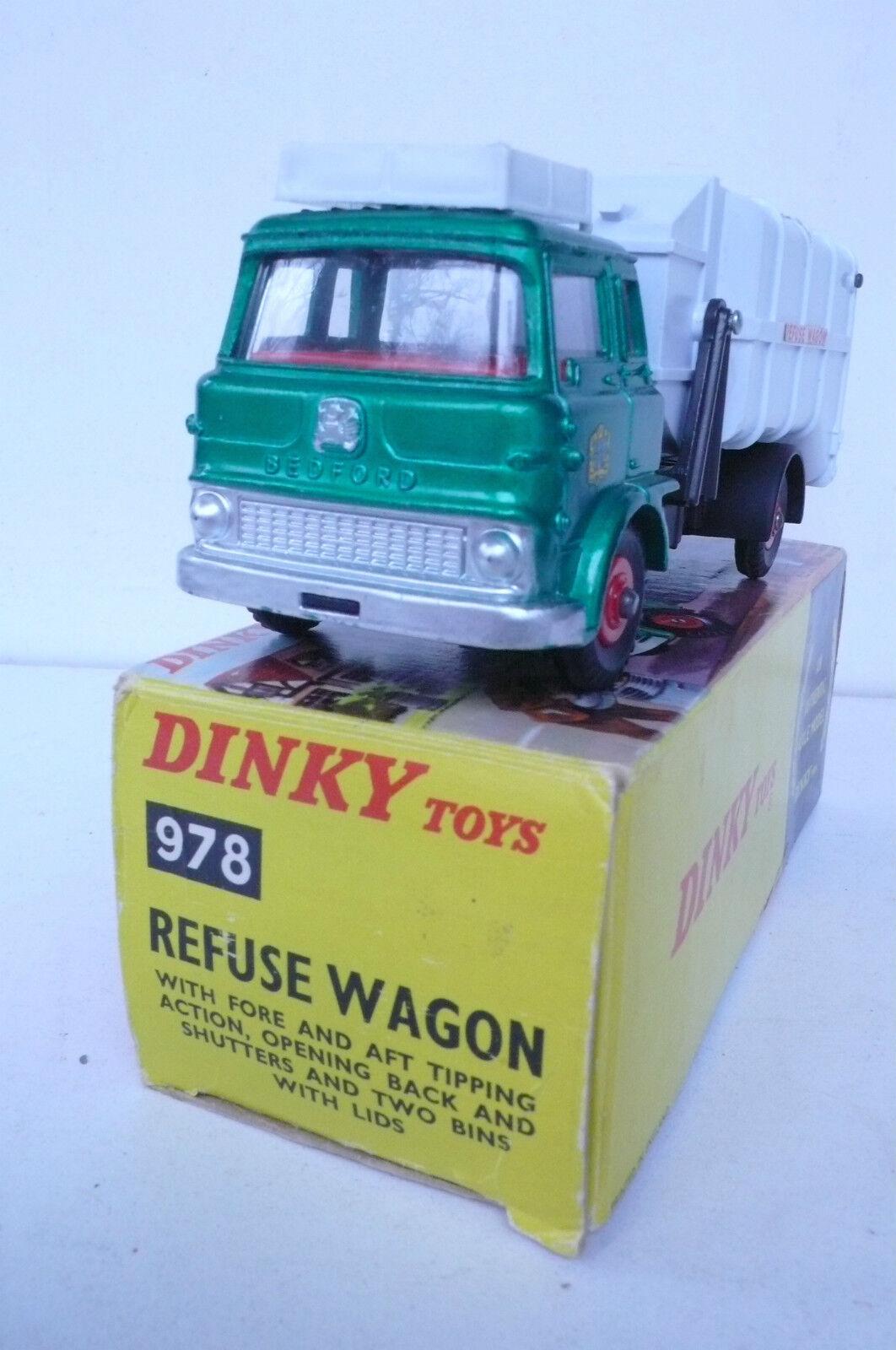 DINKY DINKY DINKY TOYS GB  BEDFORD REFUSE WAGON  REF 978  BOITE  D'ORIGINE  TRÈS BON ÉTAT   Magnifique    Shopping Online  12e17f