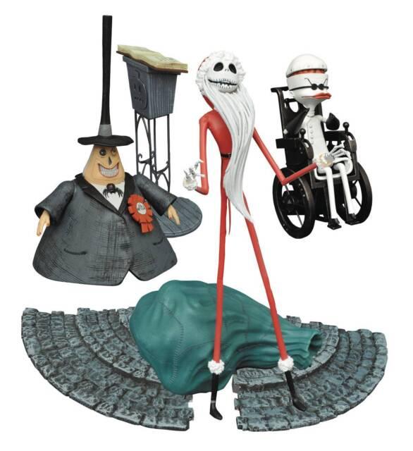 Diamond Select Nightmare Before Christmas SERIES 2 Figure Set! Santa Jack! Mayor