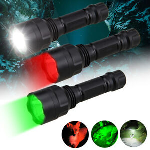 C8 T6/Q5 LED Tactical Hunting Single Flashlight 1-Mode Light Torch Camping Lamp