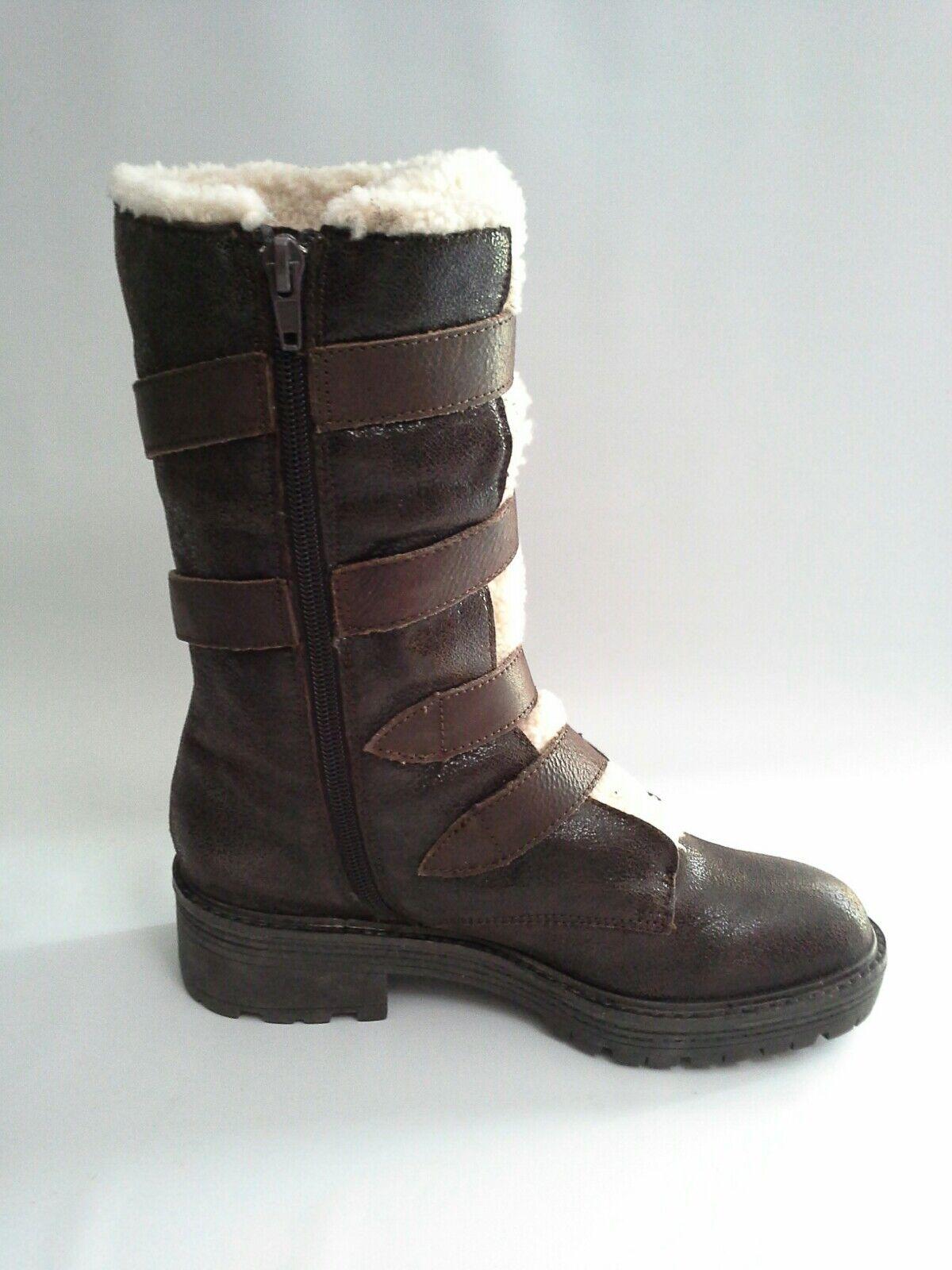Anthropologie Leather Faux Fur Buckle Boot by Kelsi Dagger Dagger Dagger Brooklyn  Sz 6 774aad