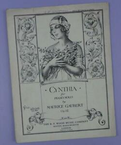 Cynthia-For-Piano-Solo-By-Maurice-Gaubert-Vintage-Sheet-Music-1928