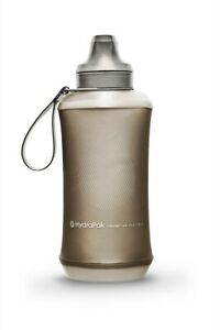 Hydrapak-Crush-Bottle-500-Grey-Spill-Proof-Collapsible-Bite-Flow-Water-Bottle