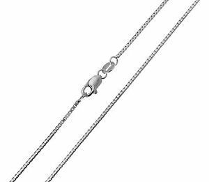 14K-Solid-Real-White-Gold-1mm-Box-Link-Chain-Necklace-16-034-Inches-Women-Children