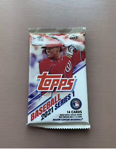 2021 Topps Series-1 14 Cards Per Pack, Factory sealed Hobby box. 1 Pack RC, AUTO