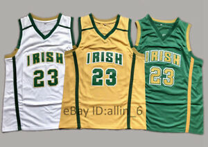 LeBron-James-23-St-Mary-Irish-High-School-Basketball-Jersey-Men-039-s-Stitched