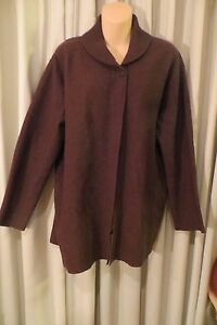 VINTAGE-90-039-S-THE-CLOTHING-COMPANY-Brown-Tunic-CARDIGAN-Size-L-20