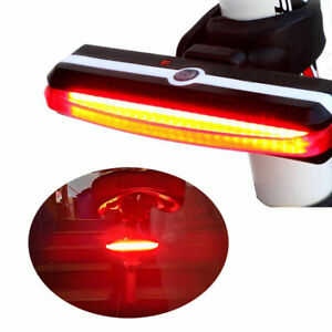 Bike Bicycle Cycling USB Rechargeable Front Rear Light 6 Modes COB LED Tail Lamp