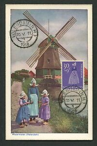 NIEDERLANDE-MK-1958-TRACHTEN-COSTUMES-MAXIMUMKARTE-MAXIMUM-CARD-MC-CM-c9159