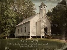 Primitive Baptist Church Smoky Mountains Cades Cove Bible Verse Print 8x10