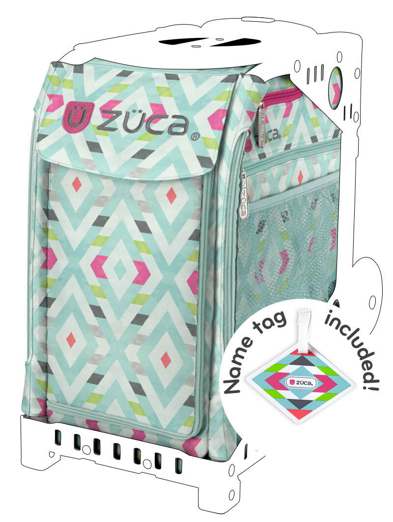 ZUCA Sports Insert Bag - CHEVRON - Free name Tag - NEW - NO FRAME INCLUDED