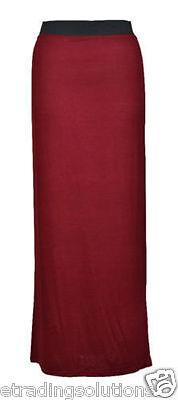 New Ladies Womens Gypsy Long Jersey Maxi Dress Skirt Ladies Skirt Size 8-26 jrsy