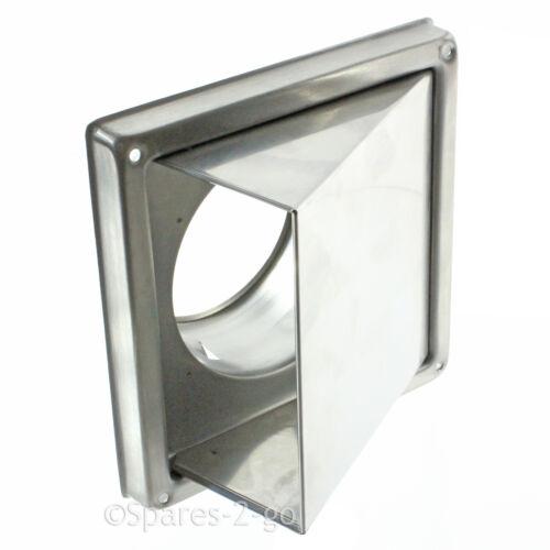 """Acier Inoxydable Mur air vent cuisine Cowled extracteur outlet non retour Rabat 4 /"""""""