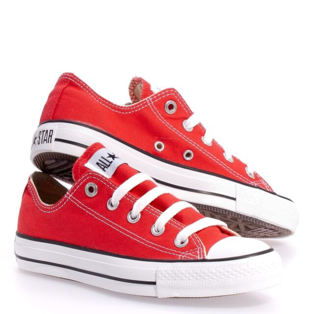 Converse Chuck Taylor All Star Laces Red White Ox Top Kids Boy Girl Size 11 3