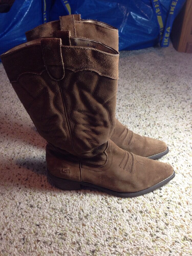 Women's  boots   Giddy Up   Roxy Size 9 Brown Suede KED