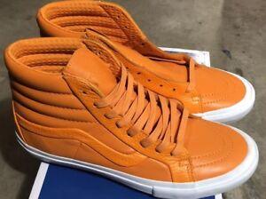 Vans-Sk8-Hi-Reissue-ST-Premium-Leather-Autumn-Glory-Orange-Sz-8-NIB