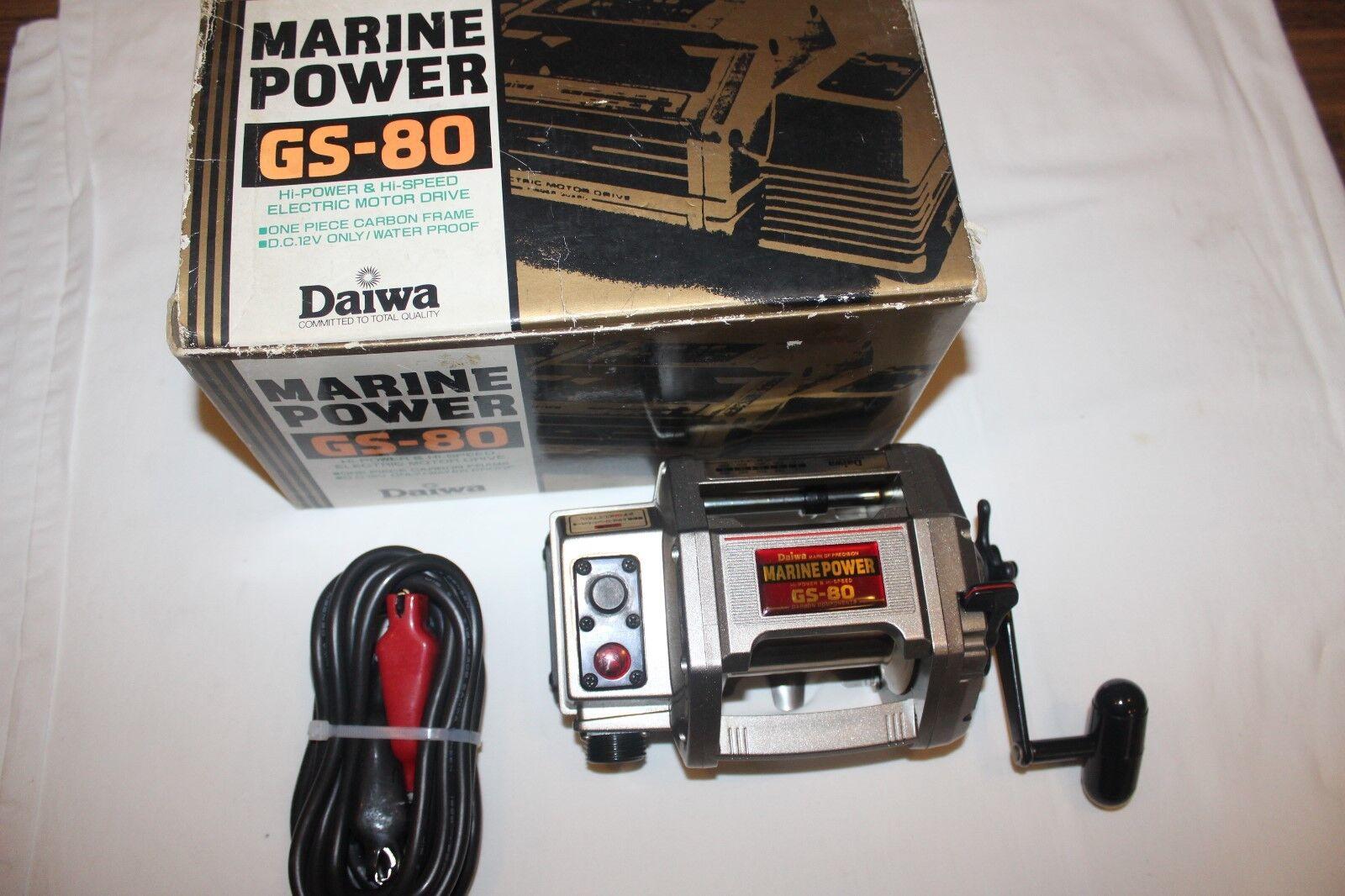 Daiwa Power Marine gs-80 Electric role - in Original Box-Made in Japan-nr-1061
