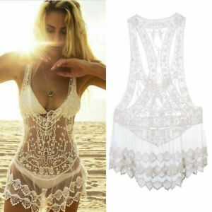 Summer-Lace-Women-Dresses-Swimwear-Cover-Up-Crochet-Bathing-Suit-Sexy-Bikini