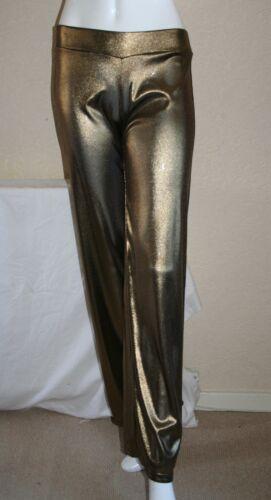 GATTO Arrogante Oro Argento Metallico Tuta Pantaloni Sportivi Pantaloni Taglia P S M Nuovo