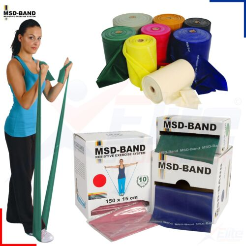 MSD Band GREEN Exercise Resistance Fitness Pilates Yoga Rubber Cross Physio NHS