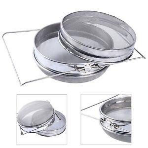 Durable-Honey-Strainer-Stainless-Steel-Double-Sieve-Beekeeping-Filter-Kit-Set