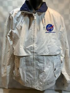 Vintage-NASA-Kennedy-Space-Center-Gear-For-Sports-White-Jacket-Size-XL