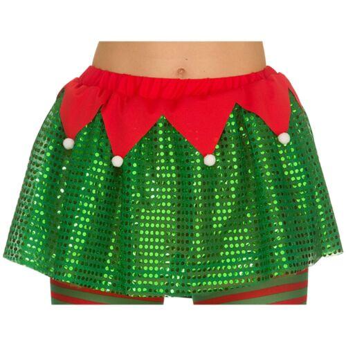 Christmas Deluxe Elf Tutu Red Green Ballet Skirt Xmas Fancy Dress Party RaRa
