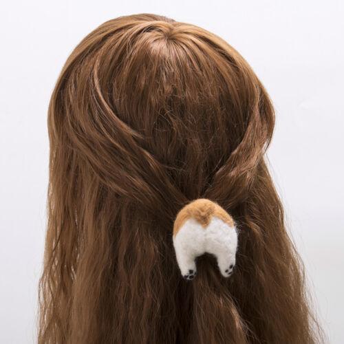 3D Lovely Peluche Chiot Décoration Cheveux CORGI Butt Fesses de cheveux clip