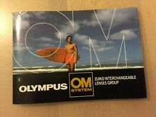 OLYMPUS OM SYSTEM ZUIKO INTERCHANGEABLE LENSES GROUP BOOK