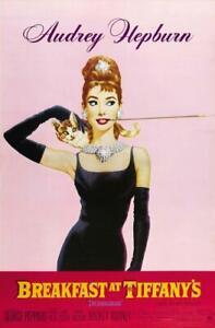 BREAKFAST AT TIFFANY'S Audrey Hepburn poster