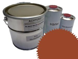 1,5 Liter Set 2K Floor Color Floor Ral 8023 Vinyl-Epoxid-Lack Lackpoint Shine