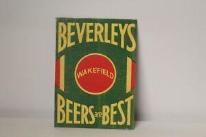 DOLLS-HOUSE-Metal-Drinks-Sign-Beverley-039-s-Beers-WAKEFIELD