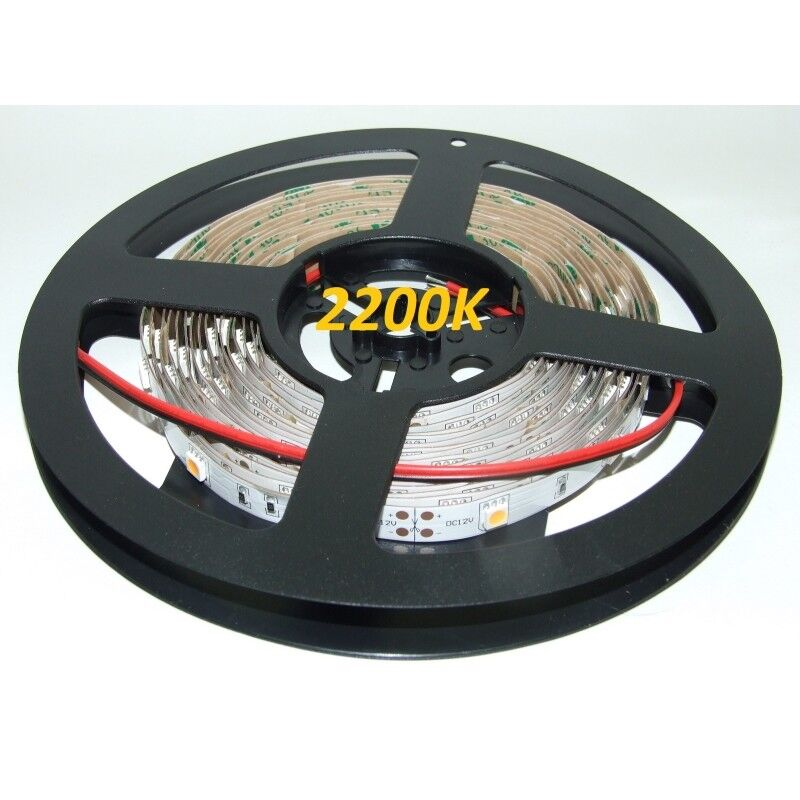 12VDC LED Flexible Strip 2200K-2400K SMD5050, IP20, 5m (36W, 150LEDs), very war