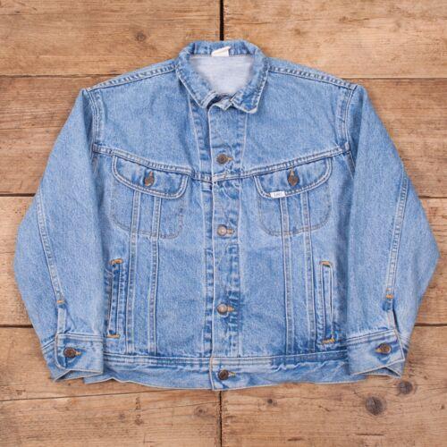Denim R10388 Large Womens Vintage Jacket 80 jaren Trucker Stonewash Blue Lee 12 xY4PH4Rqw