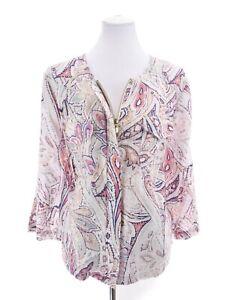 NWT Chico's Womens Paisley Print Zip Up Linen Jacket 3 Sz XL 16