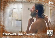 Walking Dead Season 5 Rust Parallel Base Card #71 A SHOWER AND A SHAVE