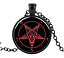 Baphomet-Devil-Satan-Pentacle-Occult-Wiccan-Pagan-Necklace-Pendant miniatuur 3