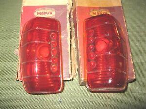 NOS Mopar 1942 Plymouth Taillamp Lens set