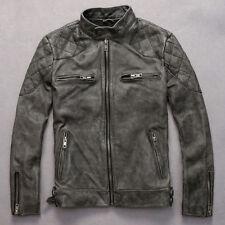 David Beckham Black Quilted real Cowhide Slimfit Leather Jacket