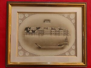 Hand-Painted-Lake-Palace-Miniature-Painting-Udaipur-Scene-Artwork-Framed