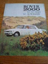 ROVER 2000 OVERSIZED CAR BROCHURE   jm