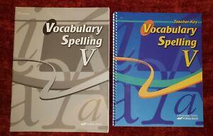 Abeka 11th Grade Grammar V English Teacher Handbook Workbook Test