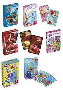 Disney-SNAP-CARD-GAMES-Select-Character-Children-039-s-Games-Memory-Pairs-Domino
