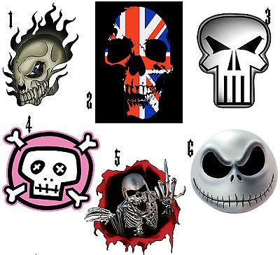 TÊte De Mort Skull Sticker Autocollant Ou Transfert Textile Vetement Tshirt Drip-Dry