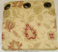 66 X 90 Drop Light Gold Eyelet Ringtop Heavy Weight Chenille Tapestry Curtain Pr